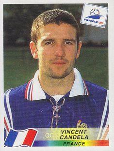 Vincent Candela of France. 1998 World Cup Finals card. France 98, 1998 World Cup, Football Stickers, World Cup Final, Football Players, Finals, Baseball Cards, Sports, Hs Sports
