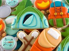 Camping Cookies by Semi Sweet Designs using cutters you probably already have