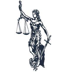 Femida lady justice vector