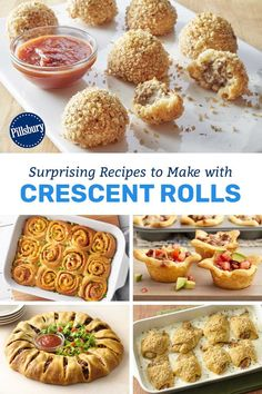 Check out these no-fail recipes for a quick and easy way to get something on the table. No Cook Appetizers, Appetizer Recipes, Snack Recipes, Cooking Recipes, Paleo Recipes, Dessert Recipes, Creasant Roll Recipes, Pillsbury Biscuit Recipes, Yummy Snacks