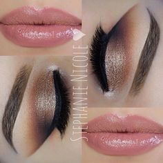 Recreate this look with Younique! Lips: Luxe lip gloss Eyes: 3D mascara, Tenacious Splurge cream shadow and mineral pigments in curious and daring.