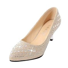 Women's+Shoes+Stiletto+Heel+Heels+Pumps/Heels+Party+&+Evening/Dress/Casual+Black/Silver/Rose+Gold+–+USD+$+17.09
