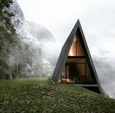 """Into the mystic""  Via @cabinlove  Architect Mattias Arndt . . . #aframe #cabin #a #frame #architecture #mist #intothewild #into #the #woods #amazing #design #special #getaway #instacool #instagram #instalike #instapic #instasize #like4like #like #follow #me #follow4follow"