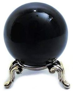 "Jet Black Crystal Ball  2""$16.95  21/2""$29.95  31/3""$39.95  51/4 $129.95 ...stand sold separately $4.50"