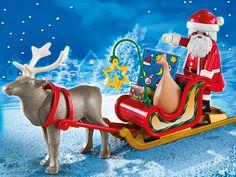 Playmobil Navidad - Trineo de Papá Noel con reno, playset (5590): Amazon.es: Juguetes y juegos