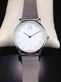 Часы Calvin Klein на металлическом плетеном ремешке