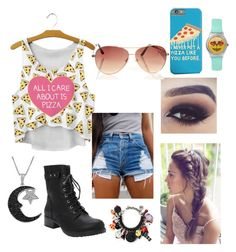 """""""Pizza Anyone? #16"""" by rochelle0504 ❤ liked on Polyvore featuring Torrid, Venessa Arizaga, Jewel Exclusive and pizza"""