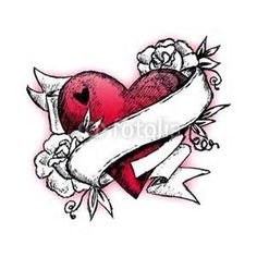 heartattack ribbon tattoos - Bing Images Another idea for a tattoo