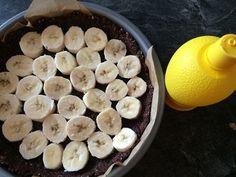Fitness nepečený kokosový dort s banány