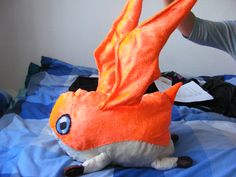Life Sized Patamon Plushie, 2' high including wings, 1'3'' long, selling price - £25