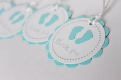 Baby Shower Favor Tags Baby Feet Thank You Tags Por WildBeanlore