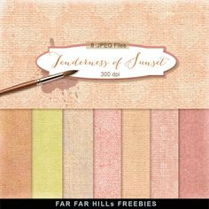 Far Far Hill - Free database of digital illustrations and papers: New Freebies Kit of Backgrounds - Tenderness of Su...