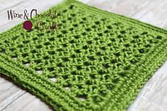 Wibble Wabble Square - This square can be made with any yarn and hook, as long as you match the gauge. The stitch is super versatile, and can be used in all types of projects, ranging from hats to blankets.