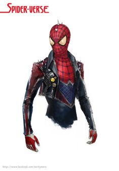 Spider-Verse: Spider-Punk by Miguel Mercado Marvel Heroes, Marvel Avengers, Comic Character, Character Design, Spiderman Kunst, Spiderman Sketches, Comic Art, Comic Books, Marvel And Dc Characters