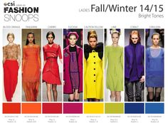 Fall Winter Fashion Color Trends from Fashion Snoops 2014 Trends, 2015 Color Trends, 2014 Fashion Trends, Latest Trends, Fashion Colours, Colorful Fashion, Trendy Fashion, Latest Fashion, Fall Winter 2014