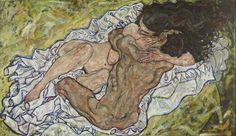 Egon Schiele, The Embrace (Lovers II), 1917 - Las musas de Klimt, Schiele y Kokoschka - 20minutos.es