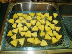 dehydrating pineapple ...
