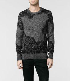 AllSaints Fragment Knit Crew | Mens Sweaters