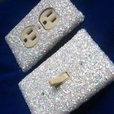 Snow White Frost Glitter Switchplate / Outlet Cover by ArtZodiac, $10. Description from pinterest.com. I searched for this on bing.com/images