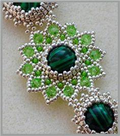 "MK bead necklace of ""Reindeer moss""  Pdf Pattern."