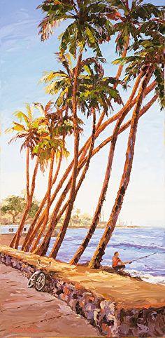 """""""Lahaina Lollygagging"""" by Erin Dertner  ~ 30 x 15 Village Galleries Maui"""