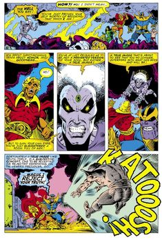 """In the a brash set of Marvel writers and artists set out to transform the """"House of Ideas"""" from a factory of radioactive superheroes to a new era of """"cosmic"""" consciousness. Adam Warlock, Comic Books Art, Comic Art, Book Art, Marvel Characters, Marvel Movies, Marvel Saga, Marvel Writer, Panini Comics"""