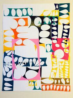 untitled (vinyl cut-out worksheet 1) (65 x 50cm) vinyl cut out by Roderick MacNeill