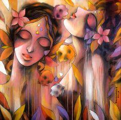 A beautiful painting by the Indian artist Kumaraswamy B