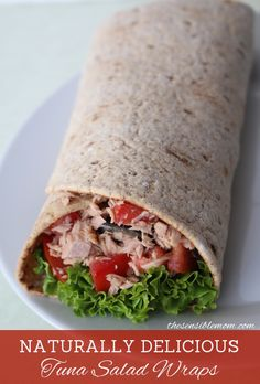 Looking for a light & healthy tuna recipe? Try theses Healthy Tuna Salad Wraps! Looking for a light & healthy tuna recipe? Try theses Healthy Tuna Salad Wraps! Healthy Tuna Recipes, Healthy Tuna Salad, Healthy Snacks, Vegetarian Recipes, Healthy Eating, Cooking Recipes, Wrap Recipes, Fish Recipes, Dinner Recipes