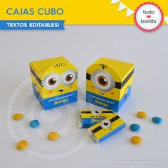 Minions: cajitas cubo