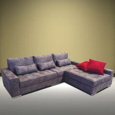 Le canapé d'angle Irene, ses textures modernes et son angle réversible donnera une vraie personnalité à votre chez-vous. #reversible #canape #couleurs