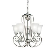 Kichler Lighting Willowmore Collection 5-light Brushed Nickel Mini Chandelier