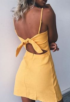 Yellow mini dresses are perfect cute summer outfits!
