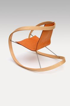 Large Sculptural Ribbon Rocking Chair
