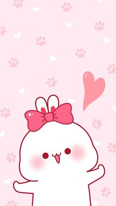 Cute Bunny Cartoon, Cute Kawaii Animals, Cute Cartoon Pictures, Cute Images, Cute Pictures, Cute Anime Wallpaper, Cute Cartoon Wallpapers, Wallpaper Iphone Cute, Cute Anime Chibi