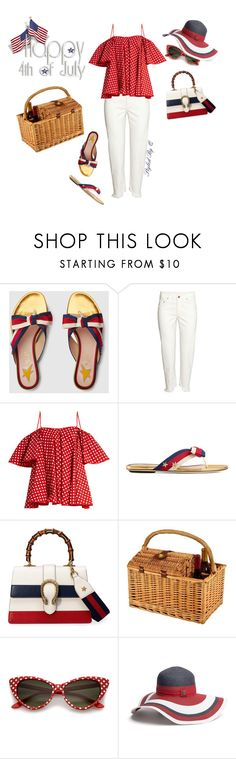 """""""Happy 4th of July!"""" by quintan ❤ liked on Polyvore featuring Gucci, H&M, Anna October and Tommy Hilfiger"""
