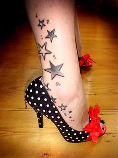 Stars ankle tattoo