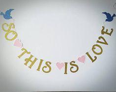 ea92631baec7 So This Is Love Banner   Disney Banner   Cinderella Banner for Weddings