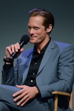 Alexander Skarsgard Attends #Disconnect Events in NY April 8, 2013 Did someone make him blush?