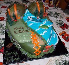 boob/hunting/fishing cake