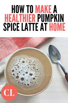 Call us basic, but warm, foamy pumpkin spice latte is just the beverage that we're craving during the fall months. Fall Recipes, Wine Recipes, Healthy Recipes, Starbucks Pumpkin Spice Latte, Healthy Starbucks, Smoothie Drinks, Smoothies, Cooking Light Recipes, Eat Smart