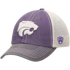 uk availability 511bb c27c6 Men s Top of the World Purple Gray Kansas State Wildcats Offroad Trucker Adjustable  Hat