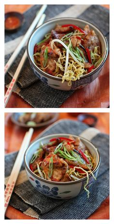 Super Delish Sweet and Sour Pork Noodles: sweet and sour flavor, with pork and noodles.Your tummy will be happy with this tried and tested recipe.  http://rasamalaysia.com