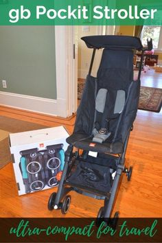 Looking for an ultra-compact stroller for travel? The gb Pockit folds small enough to fit in an overhead pin. Find out the pros and cons of this new product in this complete review.
