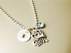 Cheerleader necklace Cheerleader jewelry by Stamptations on Etsy#sportsjewelry#cheerdleader#cheerleadergift