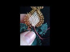 iğne oyaları lale çiçeği oyası yapımı - YouTube