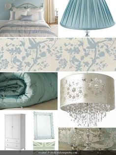 Duck egg french country bedroom