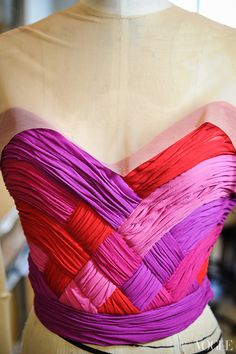 The bodice of Ms. Peck's costume, which will be worn with ballet shoes in either Valentino red or shocking pink. - Photographed by Mimi Ritzen Crawford