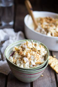 Creamy Brie Four Cheese Mac and Cheese with Buttery Ritz Crackers