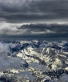 ~~aerial landscape, dramatic clouds and mountains by peter holme iii~~